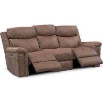 montana power light brown power reclining sofa