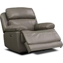 monte carlo gray  pc power reclining living room