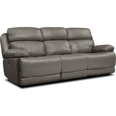Monte Carlo Dual-Power Reclining Sofa - Gray
