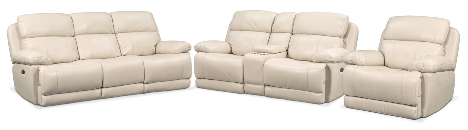 Living Room Furniture - Monte Carlo Dual-Power Reclining Sofa, Loveseat and Recliner