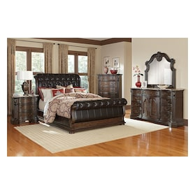 Monticello Upholstered Sleigh Bed