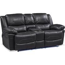 monza manual black manual reclining loveseat