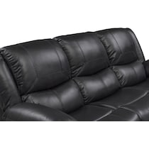 monza manual black manual reclining sofa