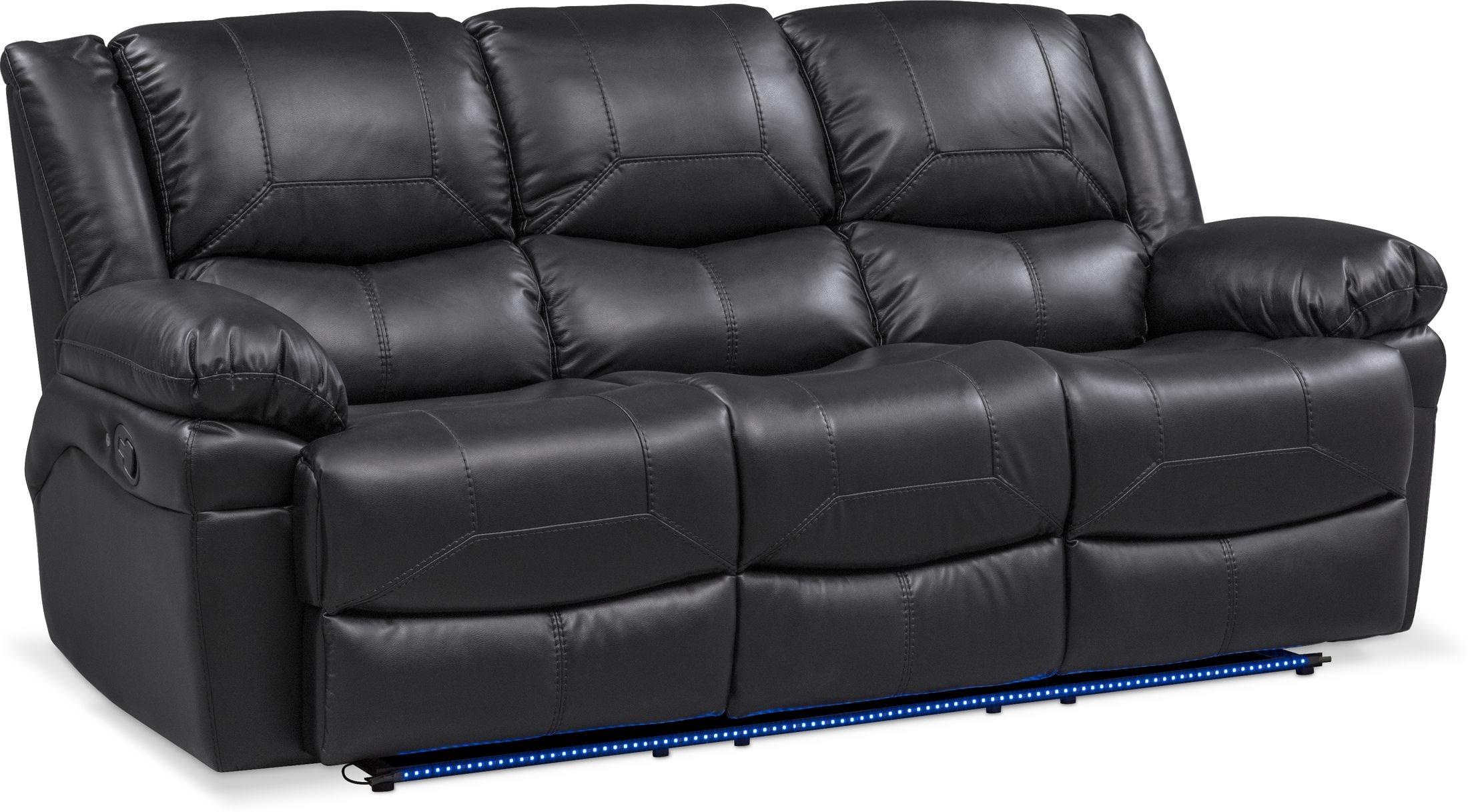 Living Room Furniture - Monza Manual Reclining Sofa