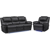 monza power black  pc power reclining living room