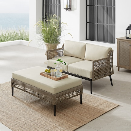 Moreno Outdoor Loveseat and Coffee Table Set
