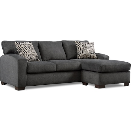 Nala 2-Piece Sectional with Chaise- Gray