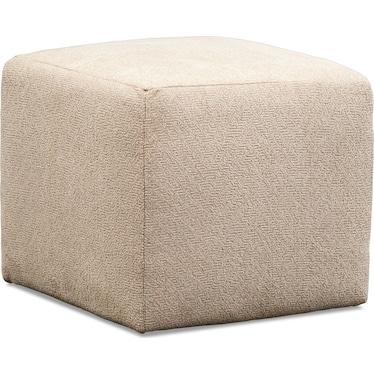 Nala Cube Ottoman - Beige