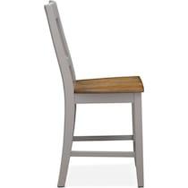 nantucket counter height dining oak gray counter height chair