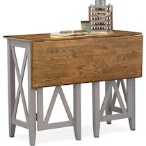 nantucket counter height dining oak oak and gray breakfast bar