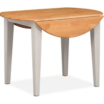 nantucket dining maple maple and white drop leaf dining table