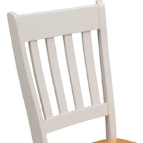 nantucket dining maple maple and white side chair