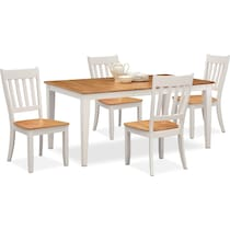 nantucket dining maple white  pc dining room