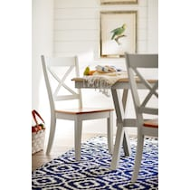 nantucket dining maple white dining chair