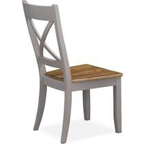 nantucket dining oak gray dining chair