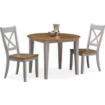 nantucket dining oak light brown  pc dining set