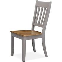 nantucket dining oak light brown side chair