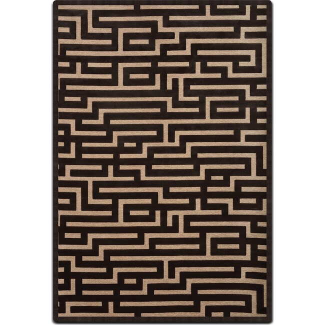 Rugs - Napa Area Rug - Charcoal and Beige