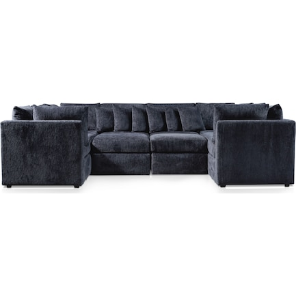 Nest 5-Piece Pit Sectional - Sherpa Charcoal