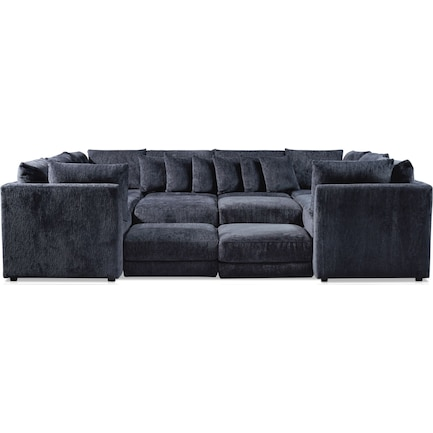 Nest 7-Piece Pit Sectional - Charcoal