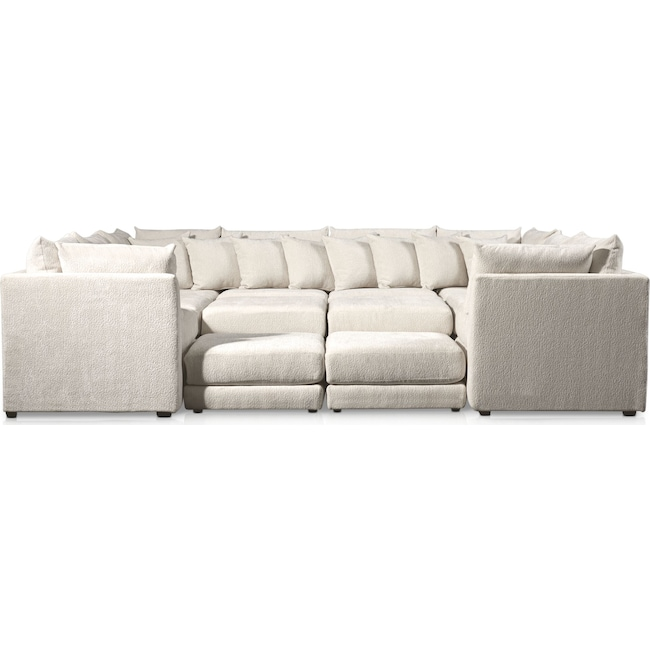 Living Room Furniture - Nest 9-Piece Sectional - Ivory