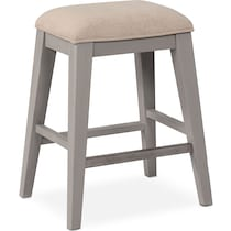new haven ch gray counter height stool