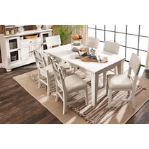 new haven ch white counter height table