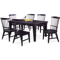 new haven black  pc dining room