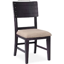 new haven black upholstered side chair