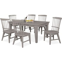 new haven gray  pc dining room