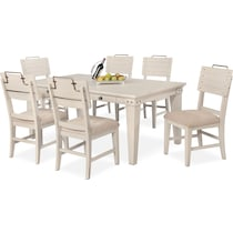 new haven white  pc dining room