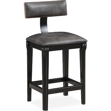 Newcastle Counter-Height Stool - Gray