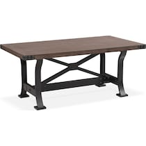 newcastle standard height gray dining table