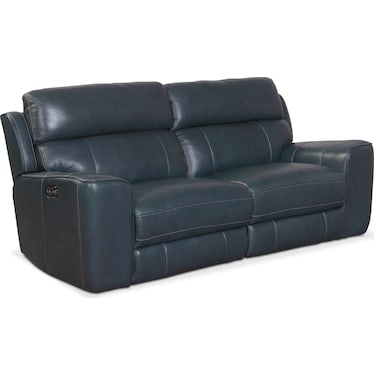 Newport 2-Piece Dual-Power Reclining Sofa - Blue