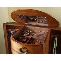 niles light brown jewelry armoire