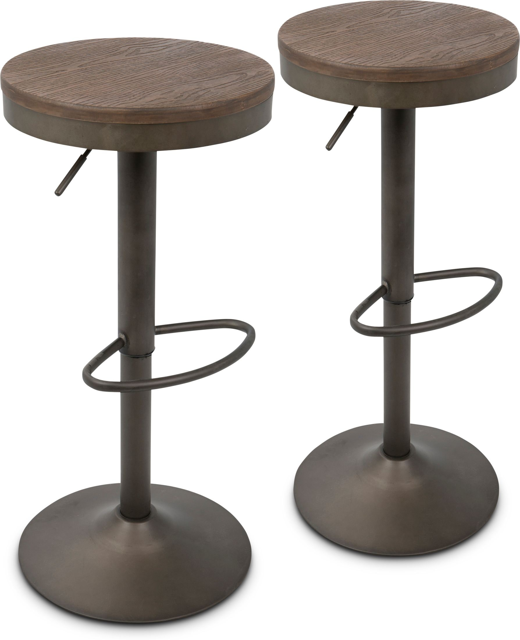 Dining Room Furniture - Noa Set of 2 Adjustable Swivel Bar Stools