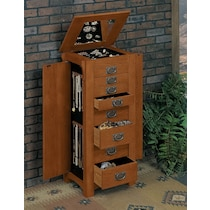 nora light brown jewelry armoire
