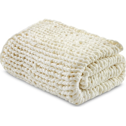 Nora Knit Throw - Ivory