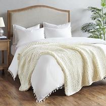 nora white blanket