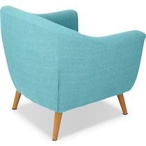 norman blue accent chair