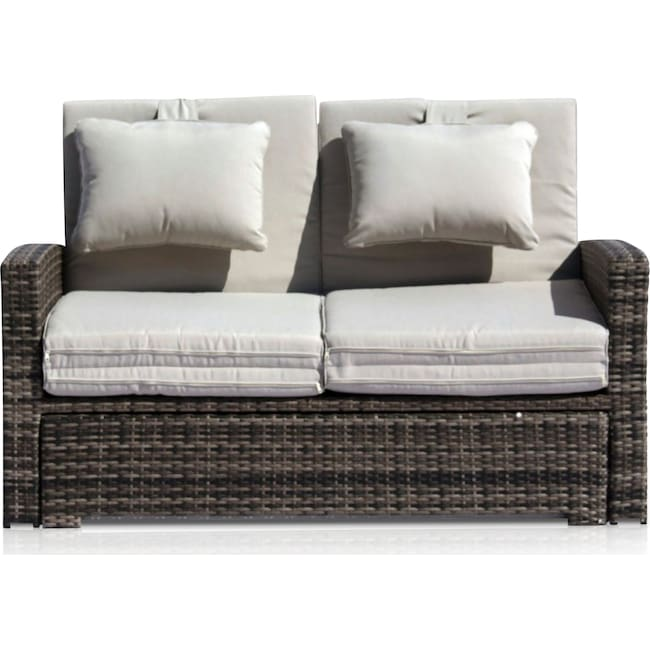 Outdoor Furniture - Northport Outdoor Convertible Loveseat
