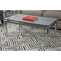 nova silver coffee table