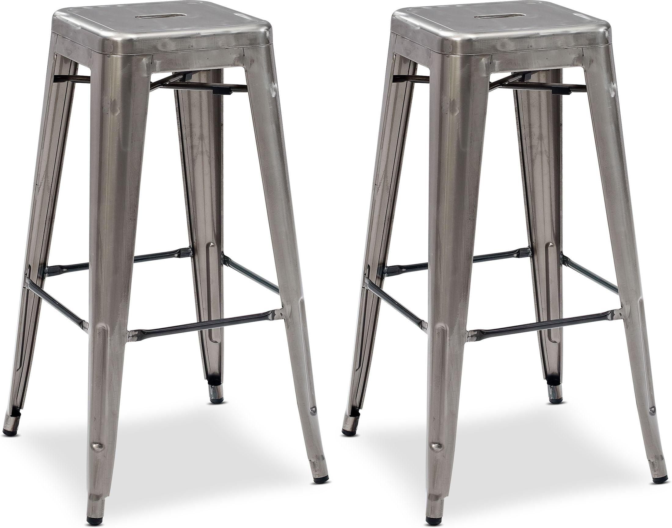 Dining Room Furniture - Oliver Set of 2 Bar Stools