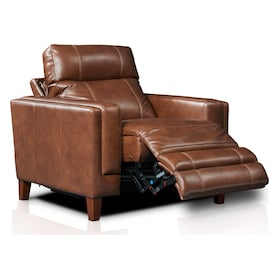 Oliver Dual-Power Recliner - Brown