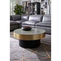 optic black coffee table
