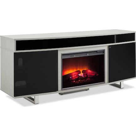 "Pacer 72"" Traditional Fireplace TV Stand with Sound Bar - Gray"