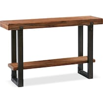 pacific dark brown console table