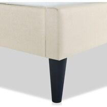 paisley white full upholstered bed