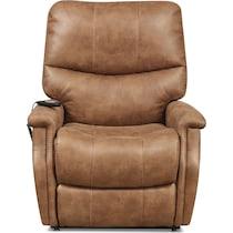 pasco light brown power lift recliner