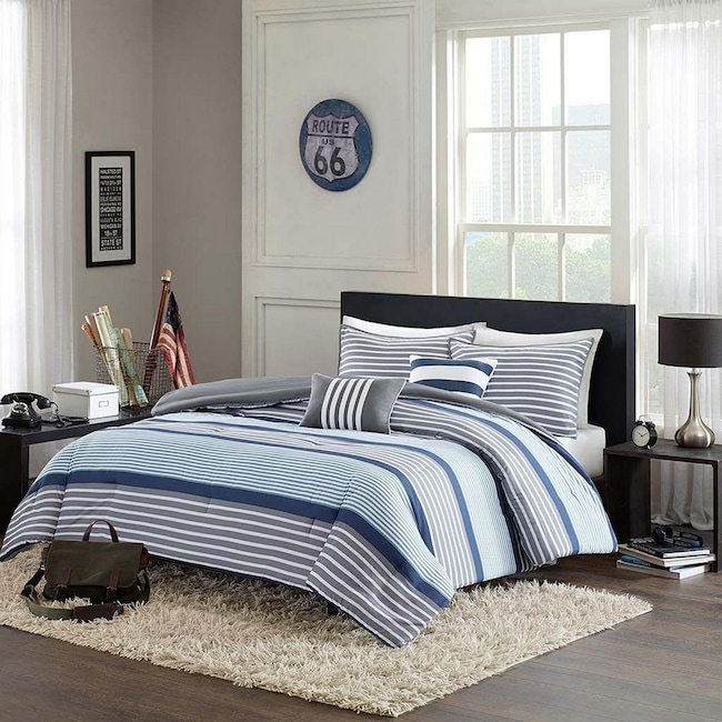 Accent and Occasional Furniture - Paul 5-Piece Full/Queen Bedding Set